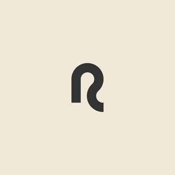 Letter R logo design template