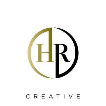 hr logo design vector icon