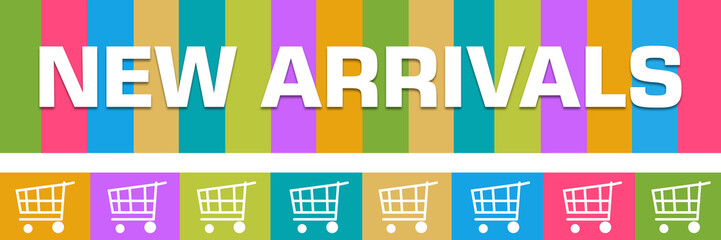 New Arrivals Colorful Boxes Shopping Carts Horizontal
