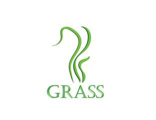 Green grass. Gazon. Vector icon. web version.