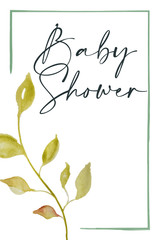 Photo sur Toile Retro sign baby shower card