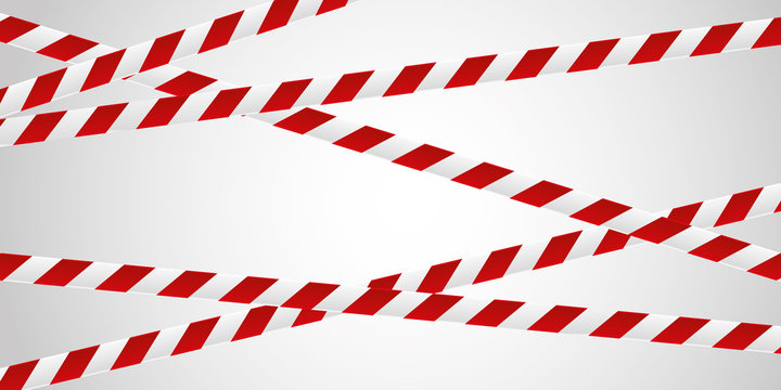 red and white tape