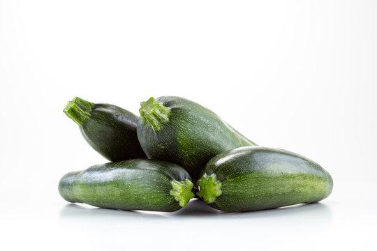 Zucchini on white background. Studio Photo