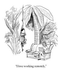 Remote work allows living in jungle