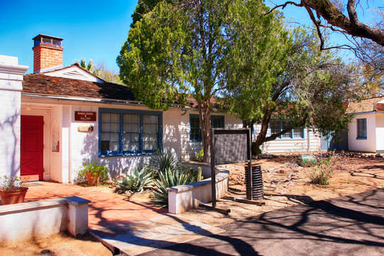 The old 1870s Ranch House at Agua Caliente Park in NE Tucson, Arizona