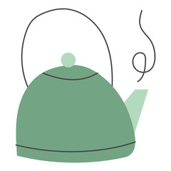 kitchen teapot ceramic utensil icon