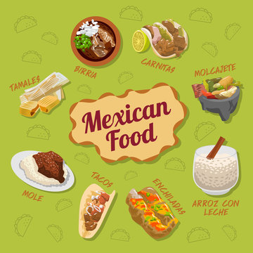 Mexican food vector set collection graphic design