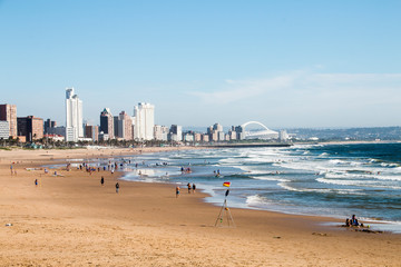 View of Durban's Golden Mile from uShaka Beach