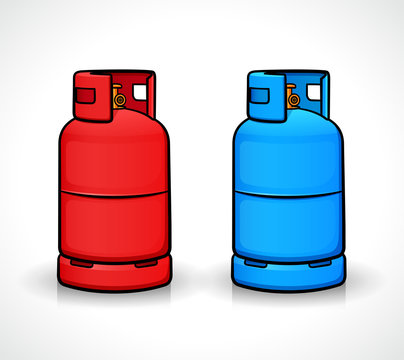 Vector gas cylinder isolated design
