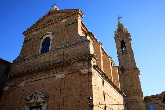 Corinaldo (AN), Italy - January 1, 2019: Santa Maria Goretti santuary in Corinaldo village, Corinaldo, Ancona, Marche, Italy