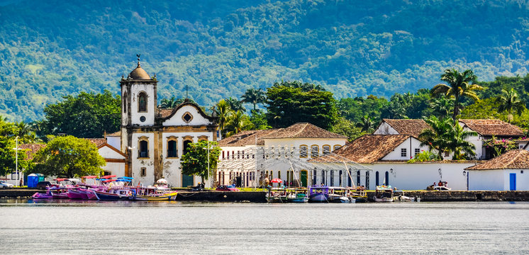 View from the sea in Paraty, Brazil