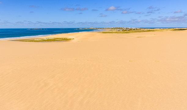 Distant view of Cabo Polonio, Uruguay