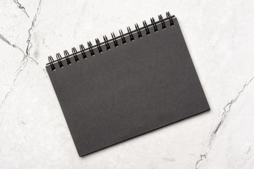 Black notebook or sketchbook for drawing and art