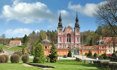 Poster de jardin Europe de l Est Wallfahrtskirche Swieta Lipka oder Heiligelinde,Masuren,Polen