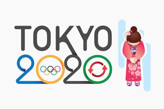 olympic 2020 japan postponement from virus covid warning concept . background Vector illustration.