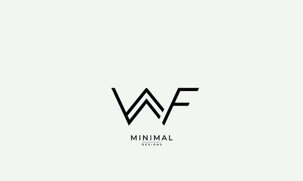 Alphabet letter icon logo WF