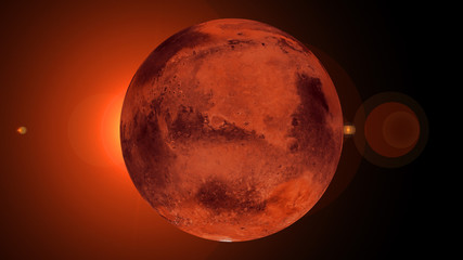 Fotorollo Rot kubanischen Mars - High resolution best quality solar system planet. This image elements furnished by NASA.mars planet