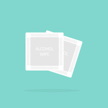 Alcohol wipes icon. Antibacterial formula