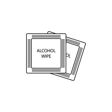 Alcohol wipes icon line style