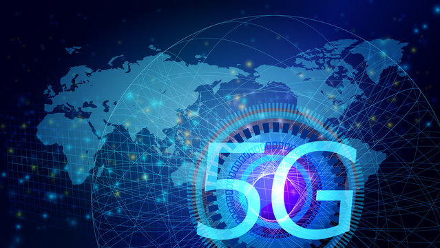 5G-グローバルネットワークサイバーコミュニケーションITイメージ背景