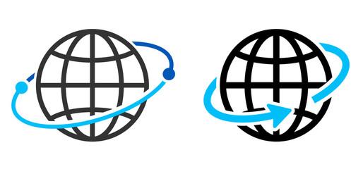 地球のアイコン グローバルイメージ