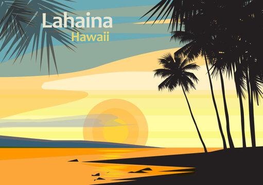 Lahaina in West Maui, Maui County, Hawaii, United States