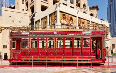 Retro tram in Dubai