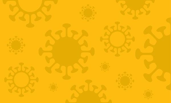 Empty Virus Symbol Yellow Sign Background Design Banner