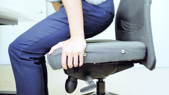 chair, work, office, posture, scoliosis, man, employee, office work. workplace chair