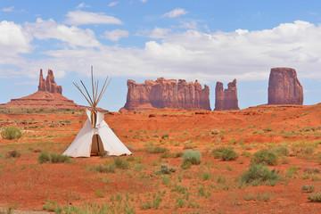 Monument Valley located on the Arizona–Utah border, USA.