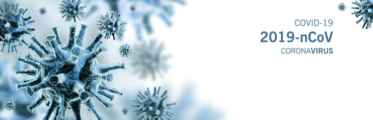 Image of flu COVID-19 virus cell. Coronavirus Covid 19 outbreak influenza background.