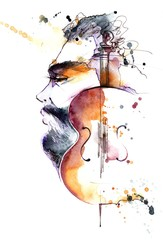 Garden Poster Paintings violinist