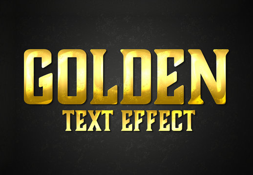 Gold Style Text Effect Mockup