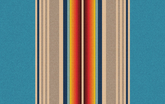detail seamless color background. mexican rug pattern. serape stripes vector