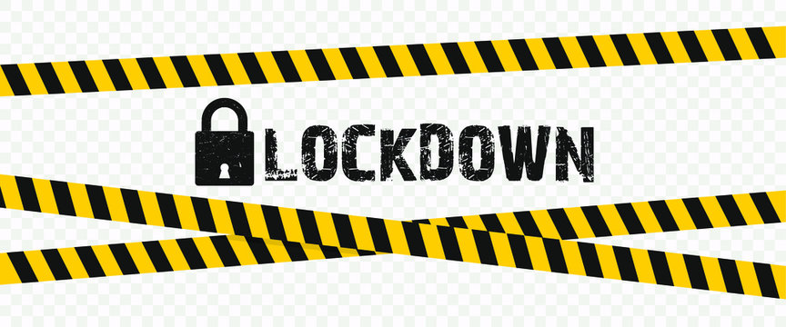 concept lockdown background due to coronavirus crisis covid-19 disease with transparent background