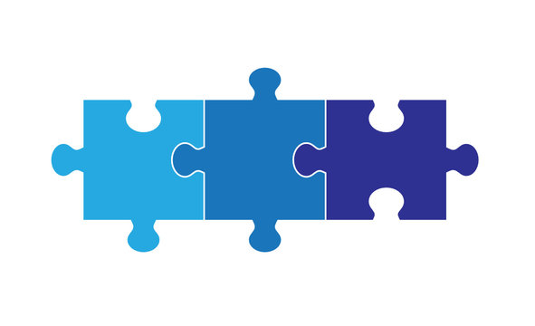 Three Part Puzzle Graphic