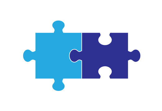 Two  Part Puzzle Graphic
