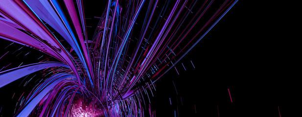 3D rendering of abstract technology digital hi tech background Fotoväggar