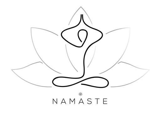 Abstract icon of meditation and yoga