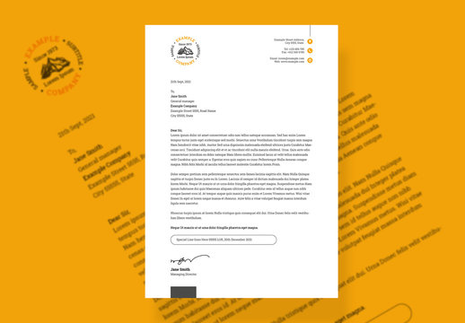 Minimal Corporate Letterhead Layout