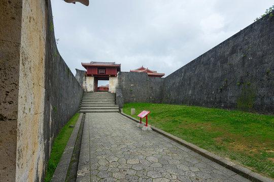 Roukokumon Gate of Shuri Castle in Naha, Okinawa, Japan