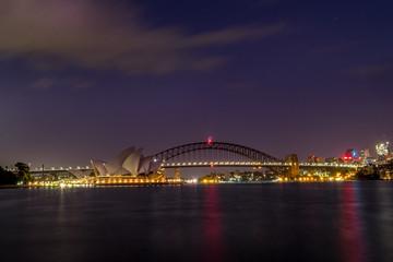 Printed roller blinds Sydney sydney harbour night scene