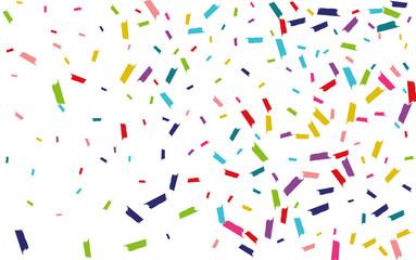 Fototapeta Color Happy Confetti Wallpaper. Splash Design. Splash Celebration Postcard. Rainbow Fun Backdrop.