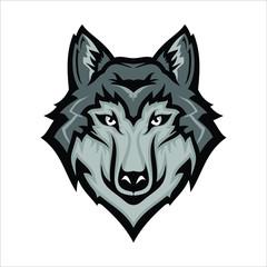 wolf icon vector. wolf logo. wolf head logo vector