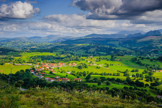 Stunning landscape in the Cabarceno nature park. Cantabria. Northern coast of Spain