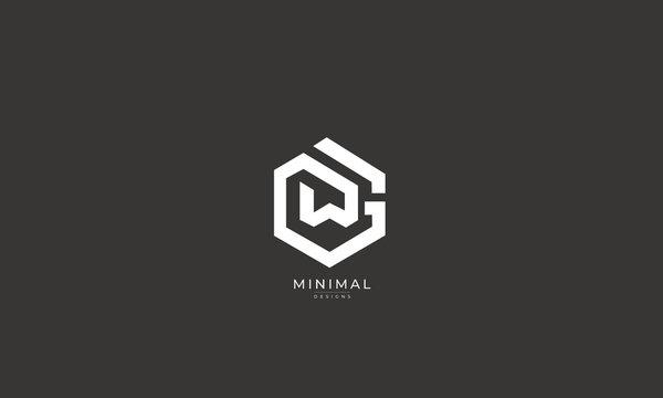 Alphabet letter icon logo WG or GW