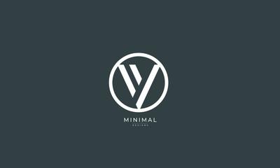 Alphabet letter icon logo V