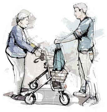 Einkaufshilfe für Rentner und Risikogruppen