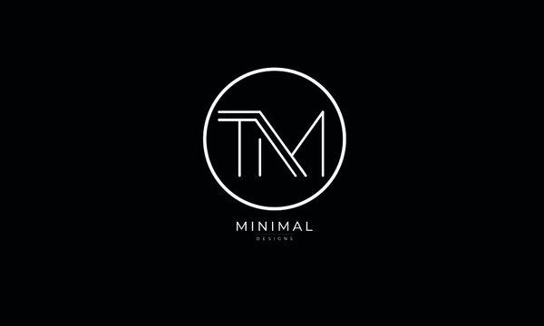 Alphabet letter icon logo TM