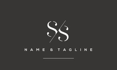 Alphabet letter icon logo ss